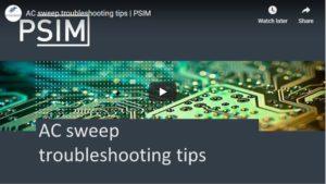 AC sweep troubleshooting tips
