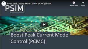 Boost Peak Current Mode Control (PCMC)   PSIM