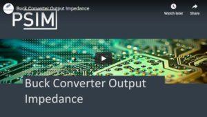 Buck Converter Output Impedance