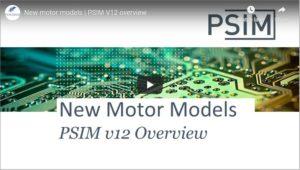 New Motor Models | PSIM v12