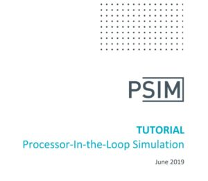 Processor-In-Loop Simulation