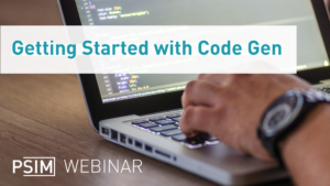 Getting Started with Code Gen