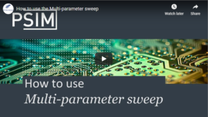 How to Use the Multi-Parameter Sweep