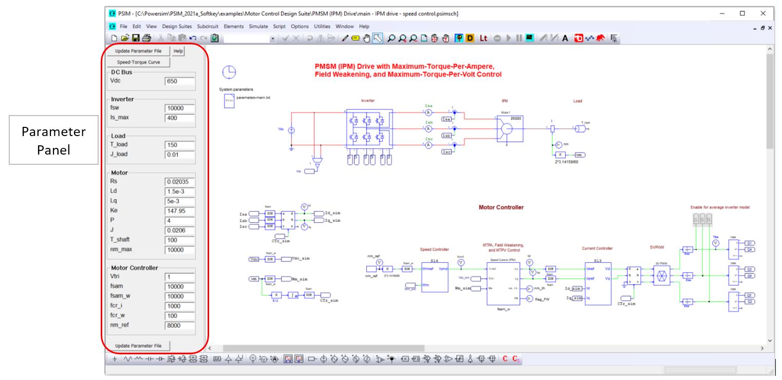Parameter Panel