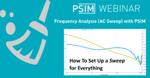 Frequency analysis (AC sweeps) with PSIM