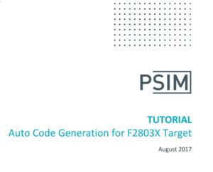 Auto Code Generation for F2803X Target