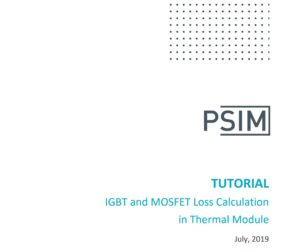 IGBT and MOSFET Loss Calculation in Thermal Module
