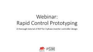PSIM + Typhoon HIL // Rapid Control Prototyping Using a 3 Phase Inverter