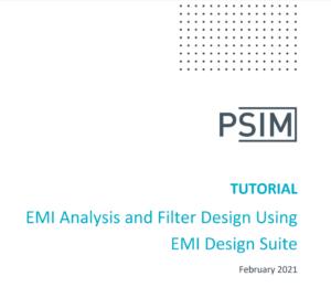 EMI Analysis and Filter Design Using EMI Design Suite