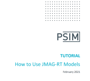 How to Use JMAG‐RT Models